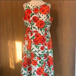 New York & Company Red Poppy Polka dot dress Sz 12